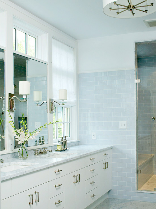 Light Blue Subway Tile
