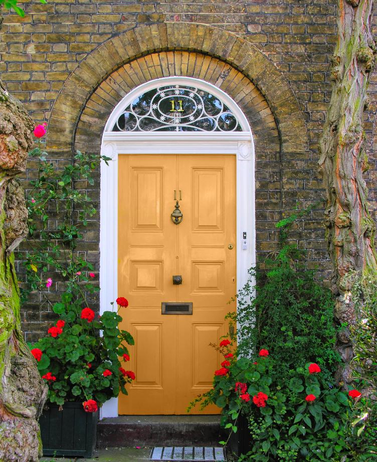 Painted Front Door Simple Of Bright Yellow Front Door Images