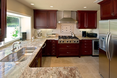 Backsplash tile tile and backsplash ideas on pinterest for Granite colors for black cabinets