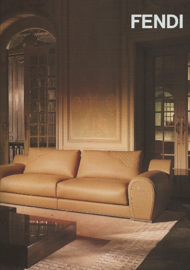 Then Inside The Same Magazine, Hereu0027s Fendiu0027s Leather Sofa.