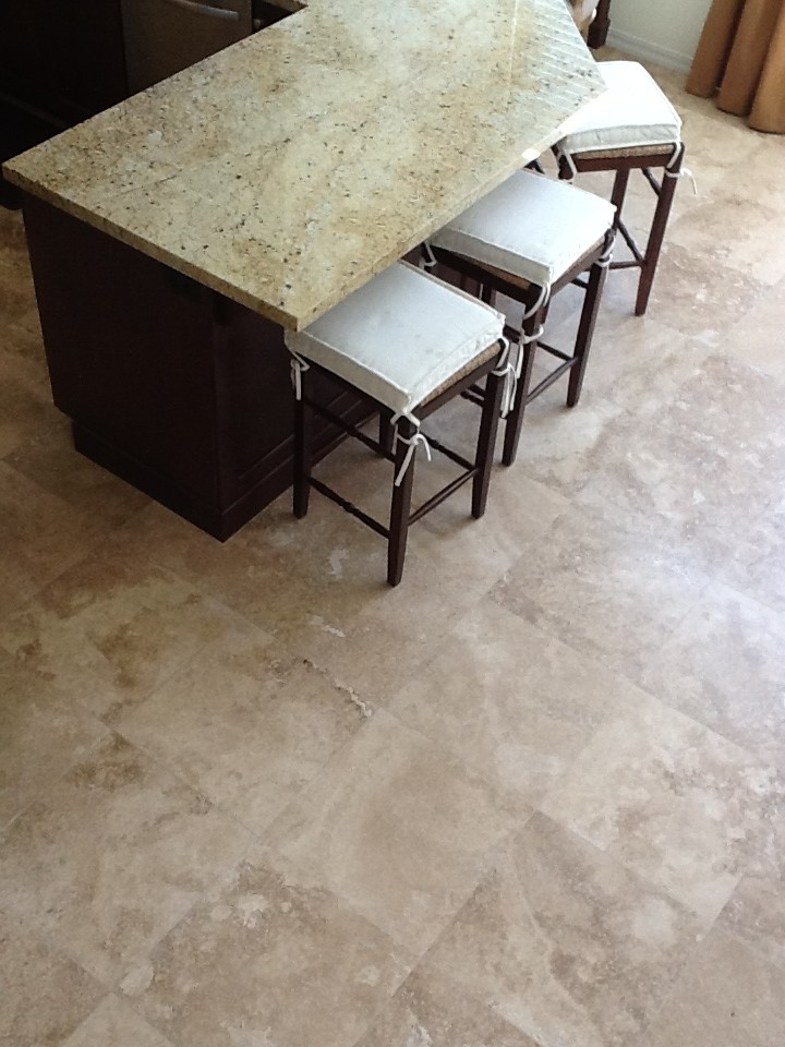 Pink Beige Floor with Yellow Granite
