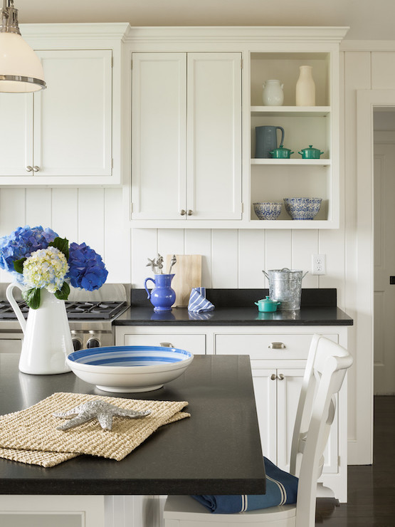 White Kitchen with Absolute Black Granite