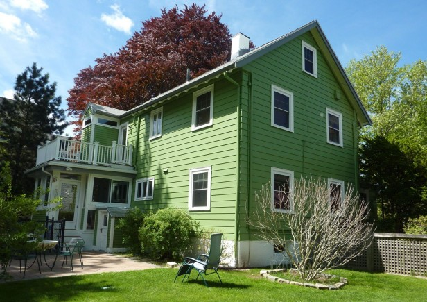 White to Green Exterior: Before & After - Maria Killam - The True ...