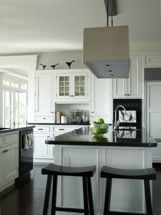 White Kitchens Black Appliances Black And White Kitchen