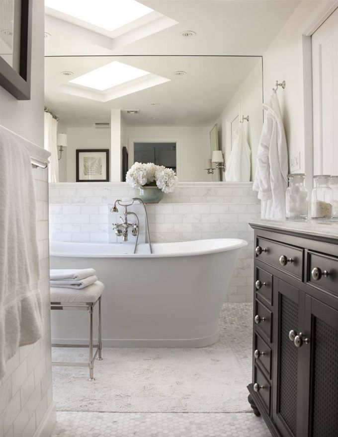 The best white bathrooms maria killam the true colour expert - Small cottage style bathroom vanity design ...