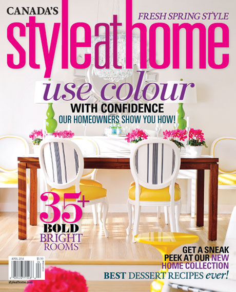 Maria Killam on the Cover of Style at Home