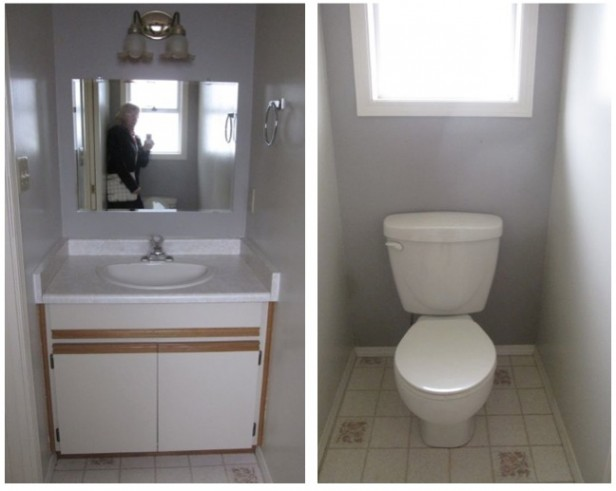 time for a powder room update (the toilet's gotta go) - maria