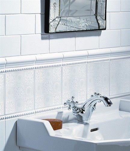 Ceramic tile borders for bathrooms