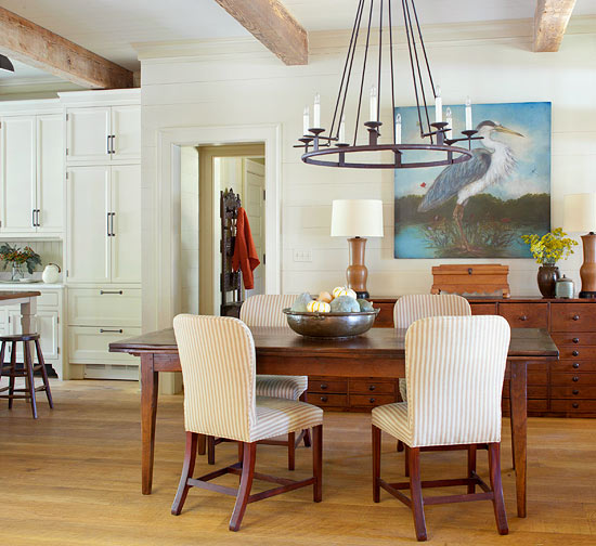 How to coordinate white cream if you made a mistake for Kitchen dining area decorating ideas