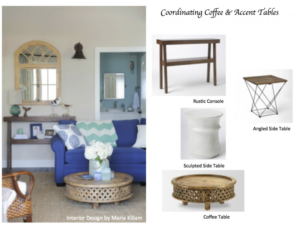 superior Accent Tables For Living Room Part - 6: How to Coordinate Coffee u0026 Accent Tables Like a Designer | Maria Killam
