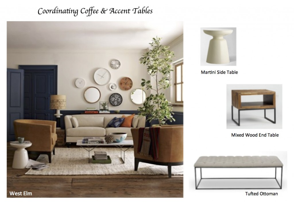 ordinary Accent Tables For Living Room Part - 1: How to Coordinate Coffee u0026 Accent Tables Like a Designer | Maria Killam
