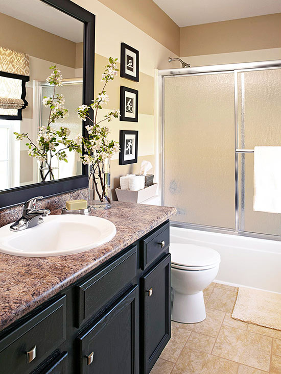 6 ways to beat the january blues in your home maria for Bathroom updates