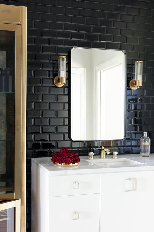 Glossy Black Subway Tile