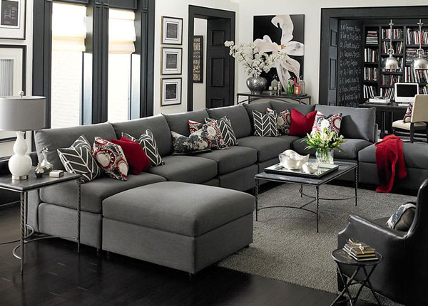 ways to decorate around your charcoal sofa maria killam the true