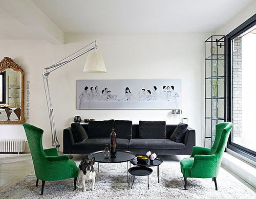 4 ways to decorate around your charcoal sofa maria killam the true colour expert. Black Bedroom Furniture Sets. Home Design Ideas