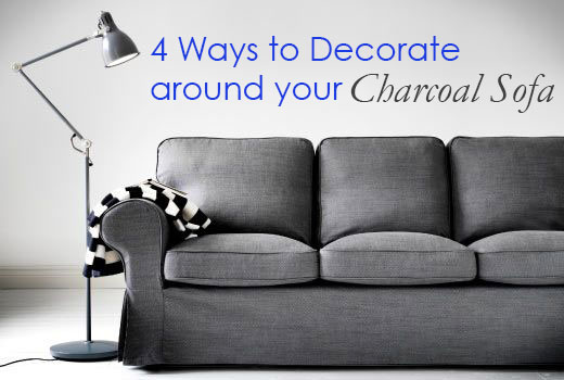 Tremendous 4 Ways To Decorate Around Your Charcoal Sofa Maria Killam Machost Co Dining Chair Design Ideas Machostcouk