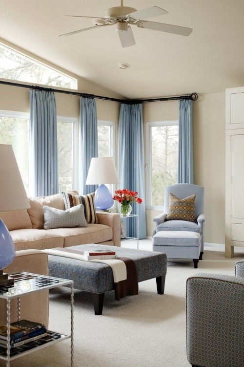 bluetan - Blue Beige Living Room Ideas