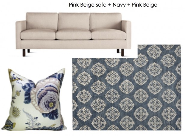 The Easy Way To Decorate Around A Tan Pink Beige Sofa