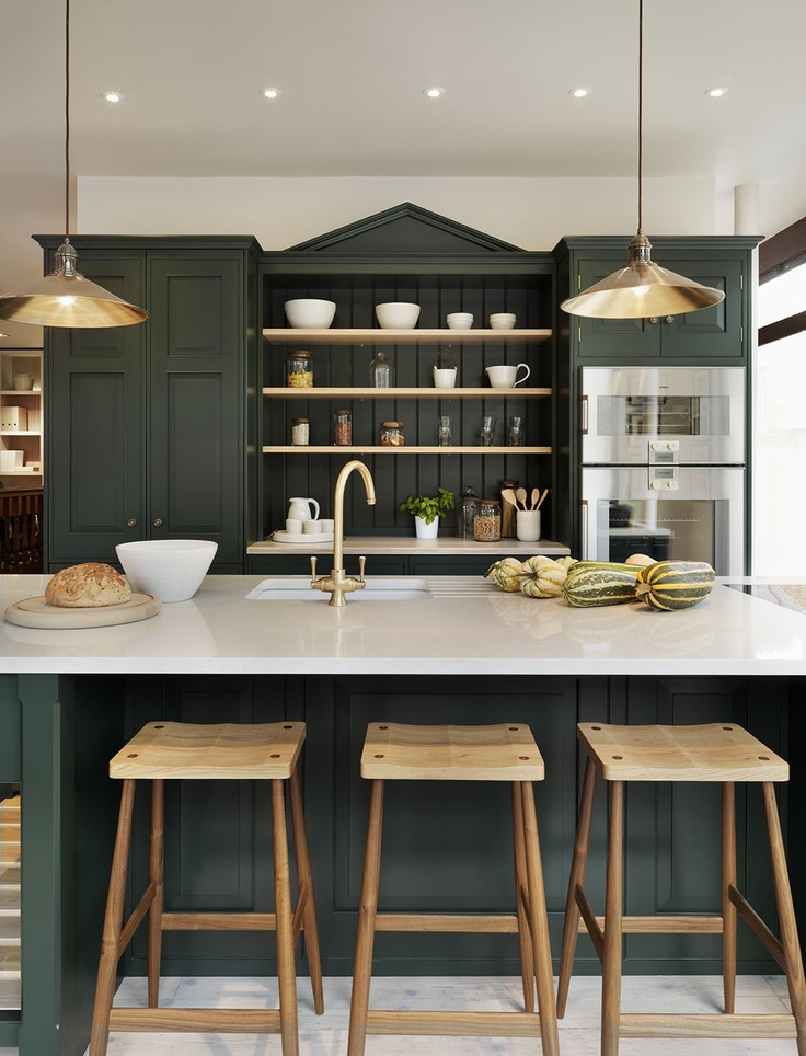 dark green kitchen cabinets mixing metals how to update a brown kitchen by adding 14455