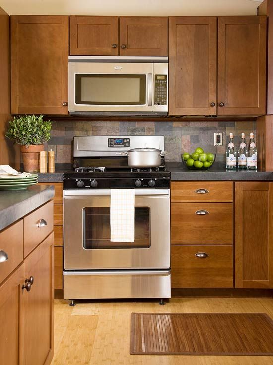 White Kitchen Appliances With Wood Cabinets ask maria: are stainless appliances going out of fashion? - maria