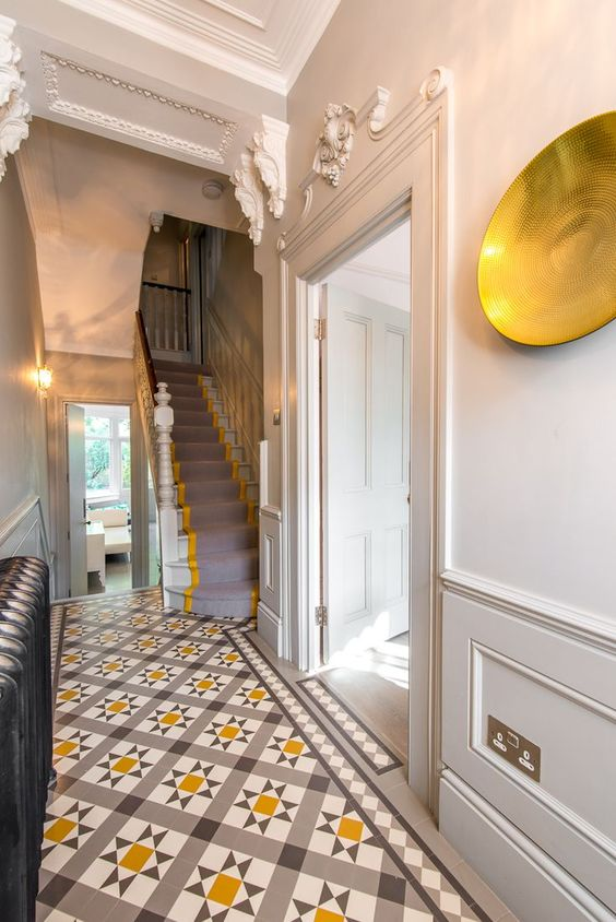 Encaustic tile foyer