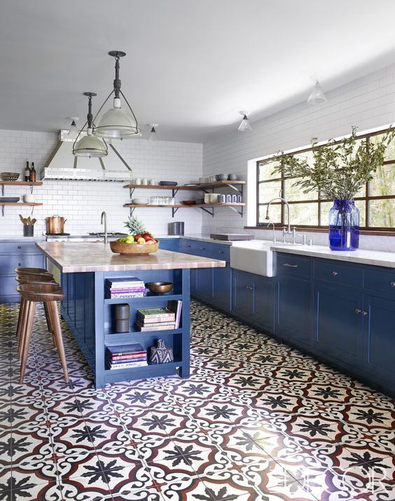 Encaustic tile kitchen