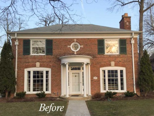 Exterior accents change everything before after maria for Change exterior of house