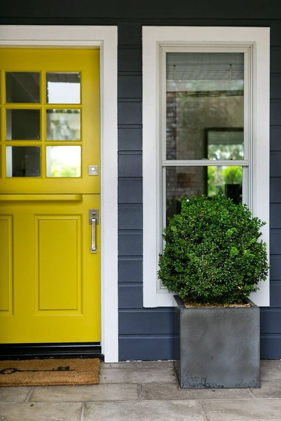 Can Gray be Dirty? Yellow Exterior (Before & After) | Maria Killam
