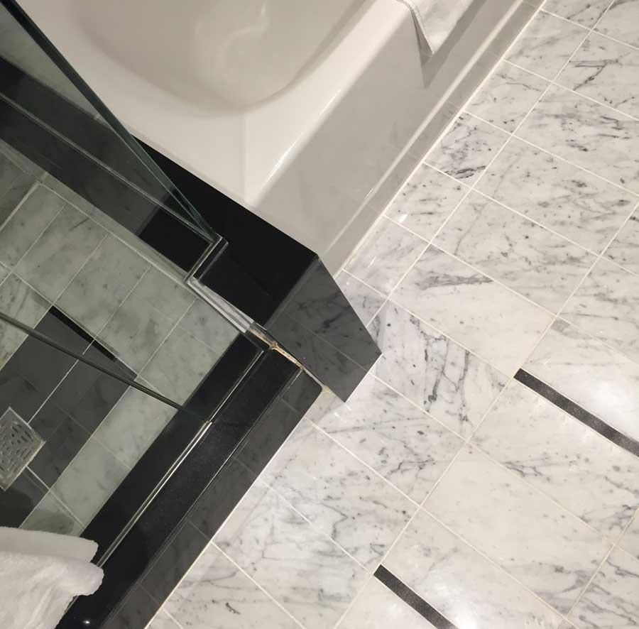 Bathroom Paint Colors With Marble one carrara marble bathroom: four colours - maria killam - the true