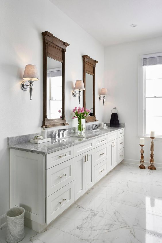 One Carrara Marble Bathroom: Four Colours - Maria Killam ...