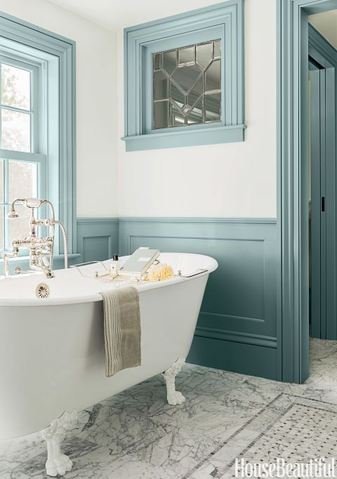 One Carrara Marble Bathroom: Four Colours | Maria Killam