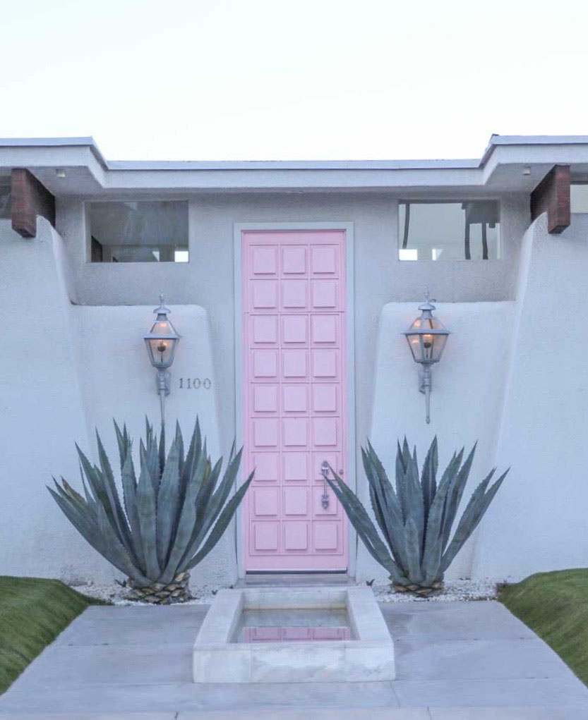 The Best Way To Choose A Front Door Colour From Palm Springs - Choose the best color for your front door