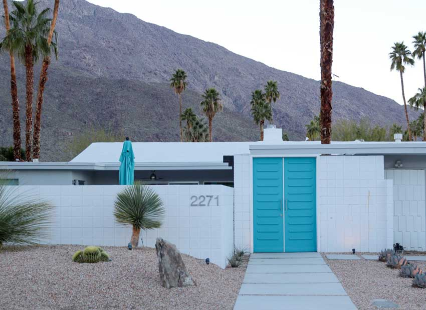 15 Best Front Door Colours in Palm Springs | Maria Killam
