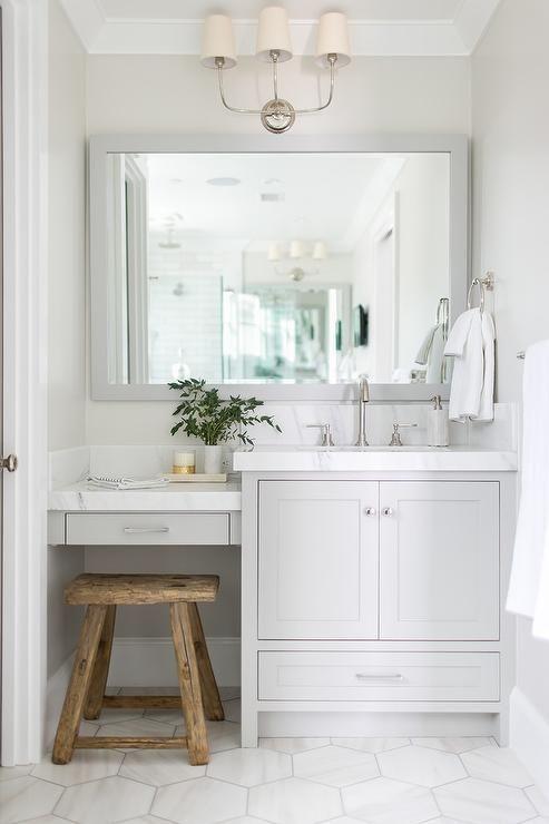 "12"" Hex Tile Classic Bathroom | Maria Killam"