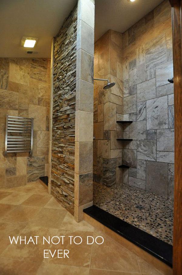 multi tiled bathroom