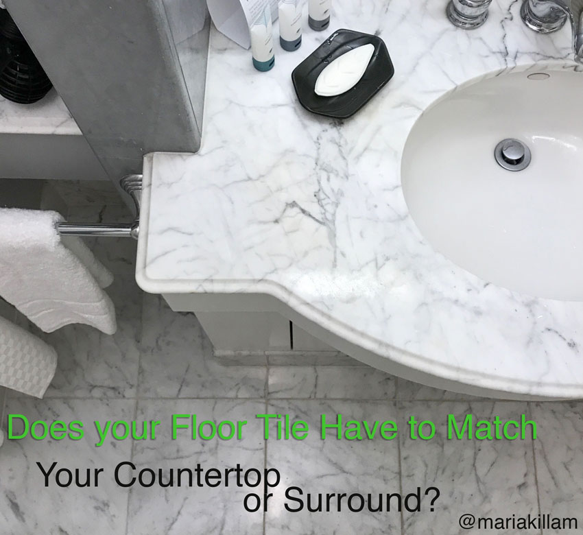 Does your Floor Tile Have to Match your Countertop or Surround?