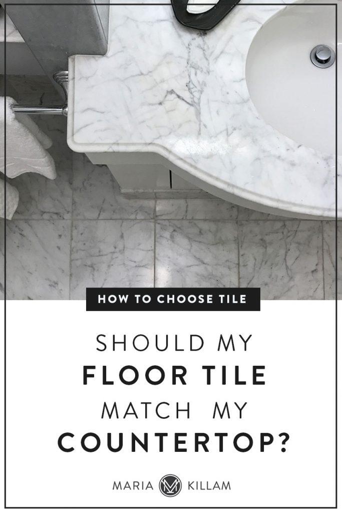 Should floor tile match countertop