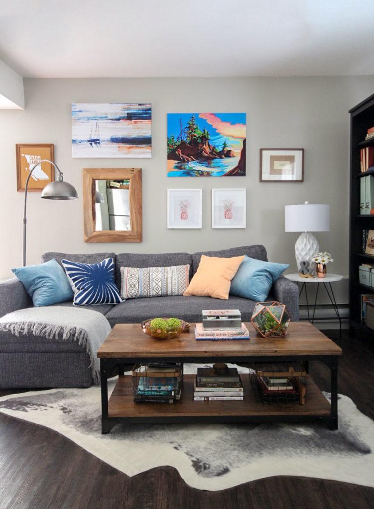 How to brighten a dark living room
