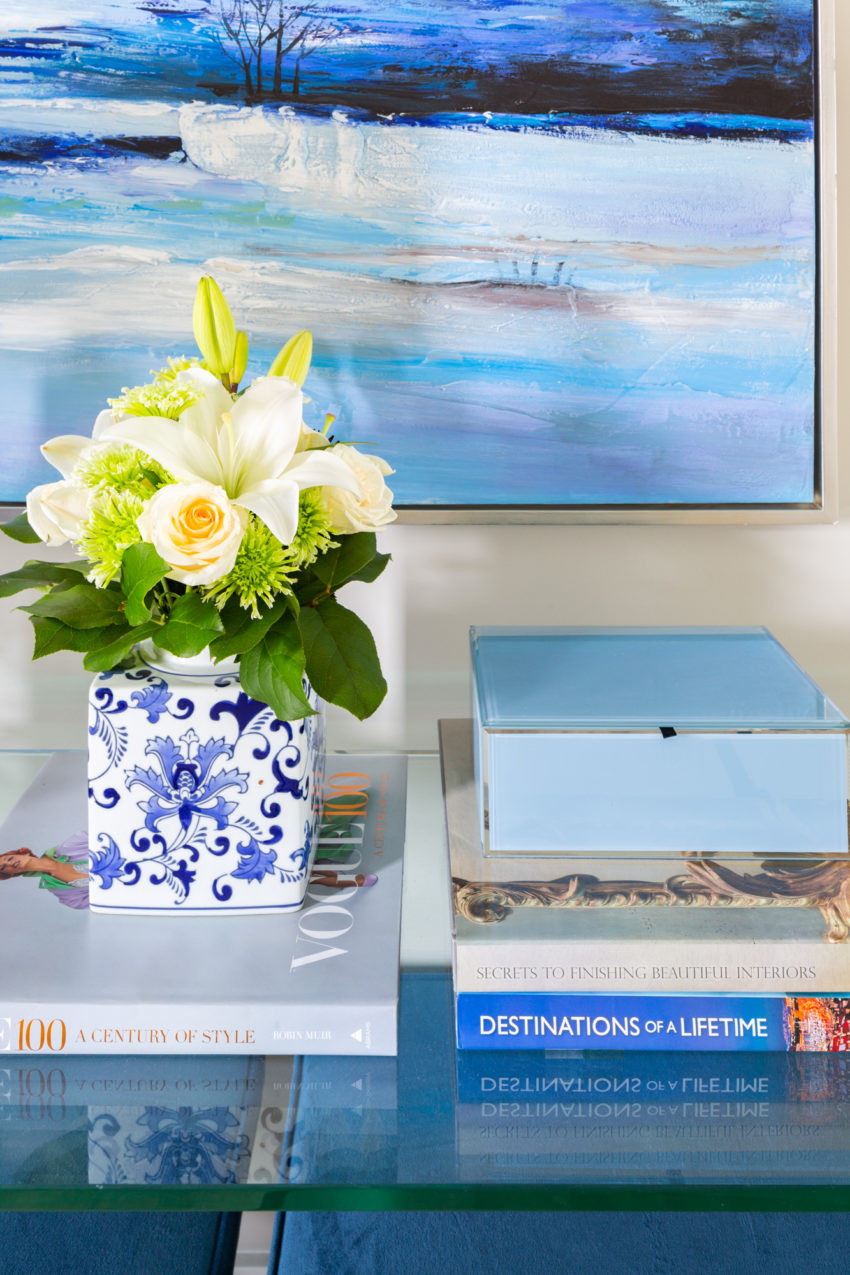 Coffee Table Styling | Decorating with Blue | Interior Design