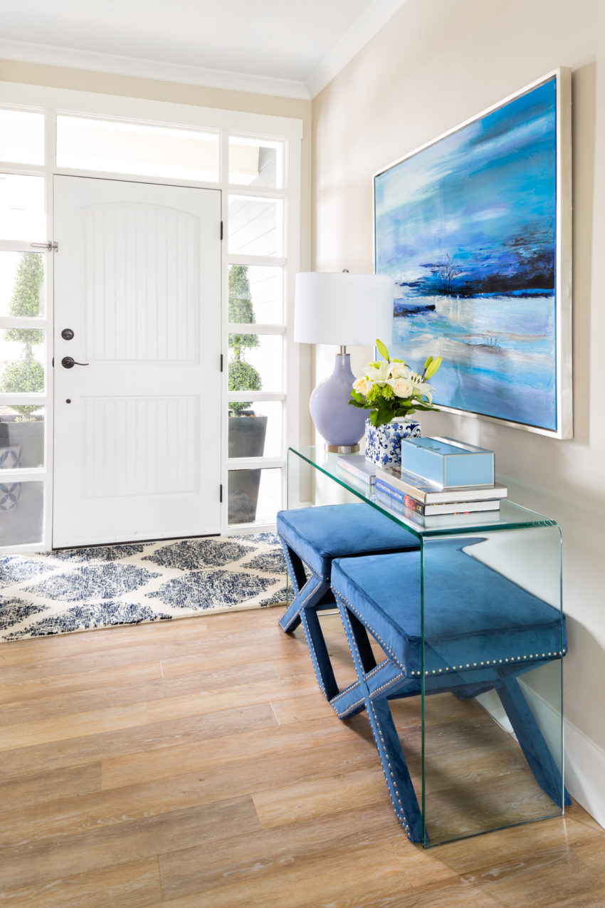 Coffee Table Styling | Decorating with Blue | Entryway Design