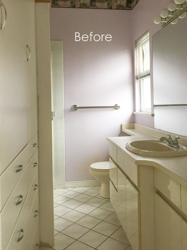 80s Cream Bathroom Refresh Before Amp After Maria Killam