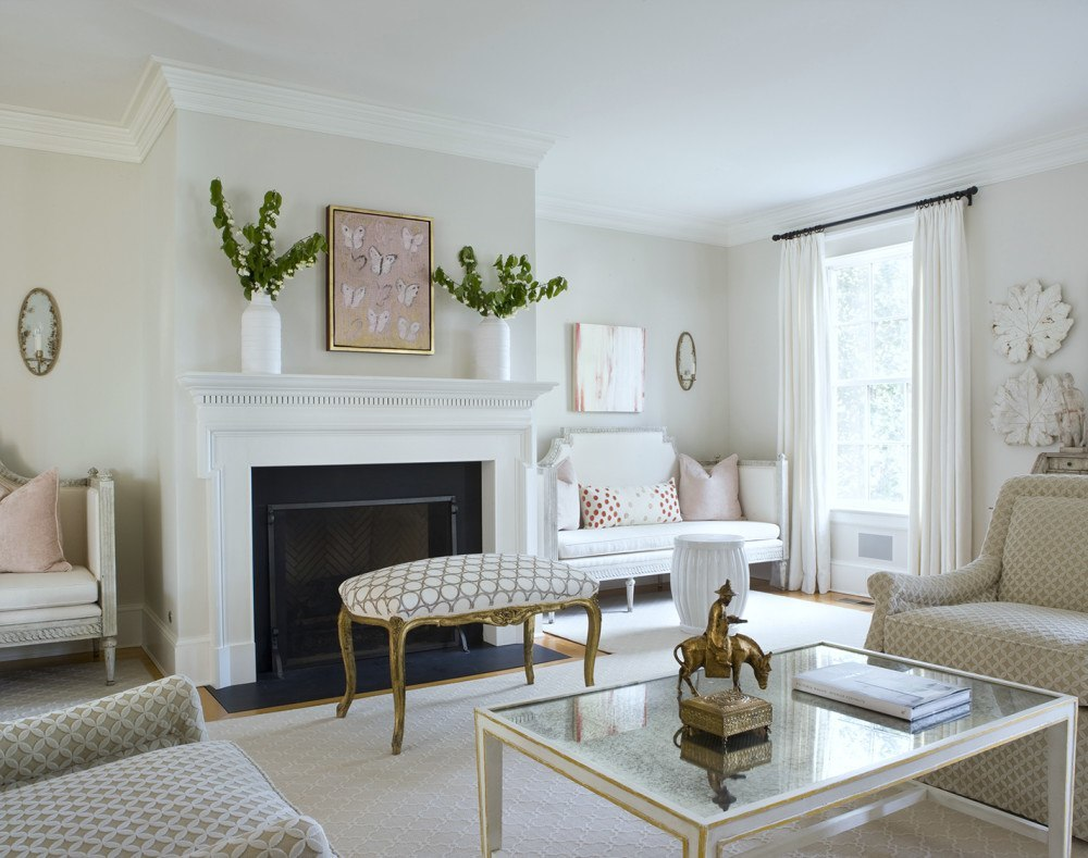 But A House Painted In U0027greigeu0027, Which Really Is A Category Of U201cwhiteu201d Will  Still Look Current And Classic. Like This Pretty Room Painted BM Classic  Gray OC ...