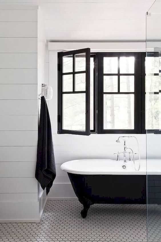 Black Windows Bathroom
