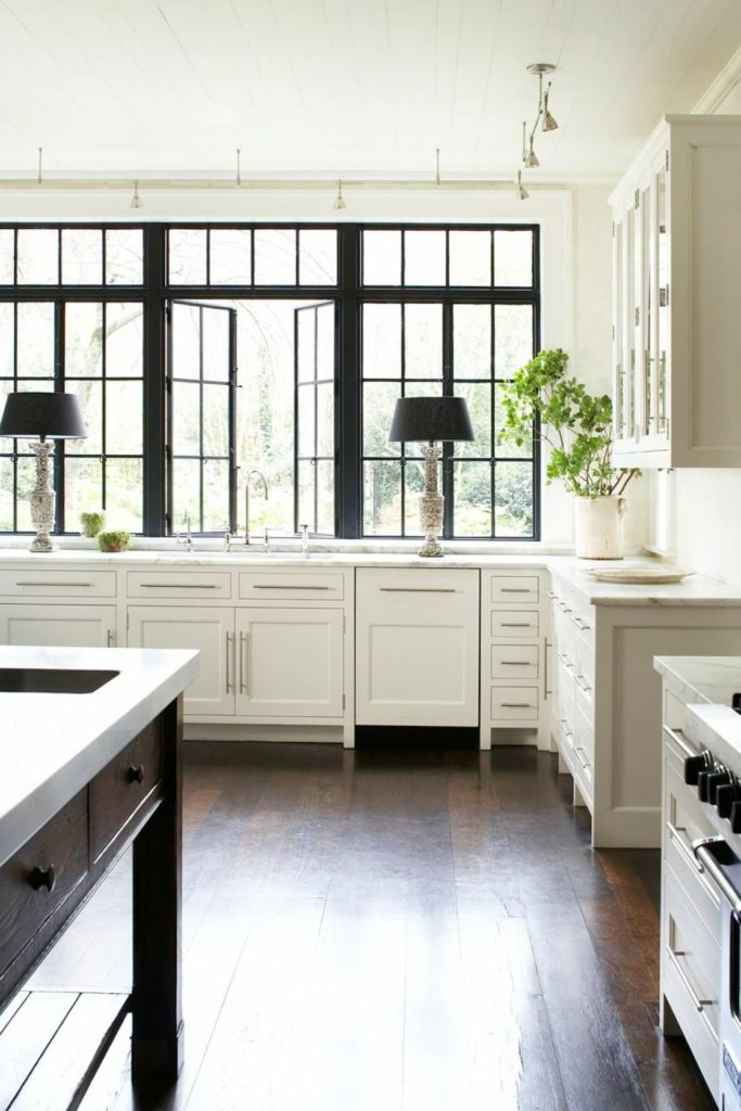Black Windows Kitchen