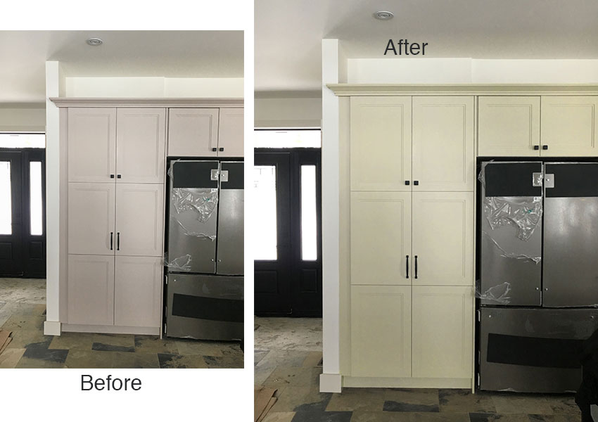 Ask Maria Help My White Kitchen Cabinets Seem To Change Colour