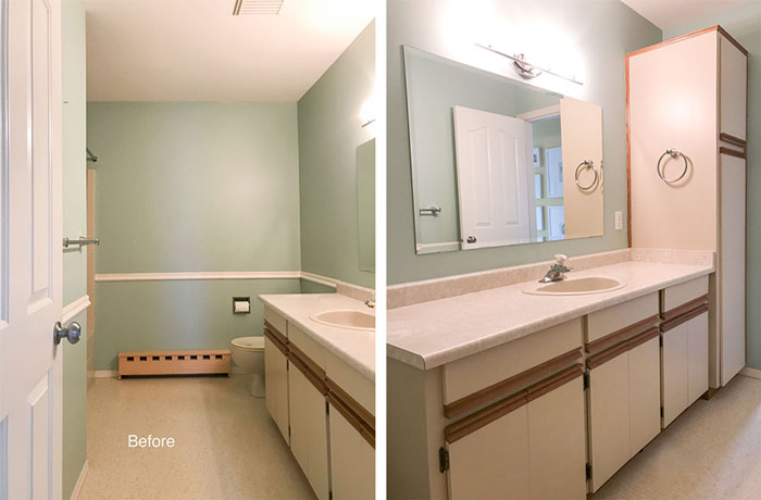 My Classic Black And White Bathroom Reveal Before After
