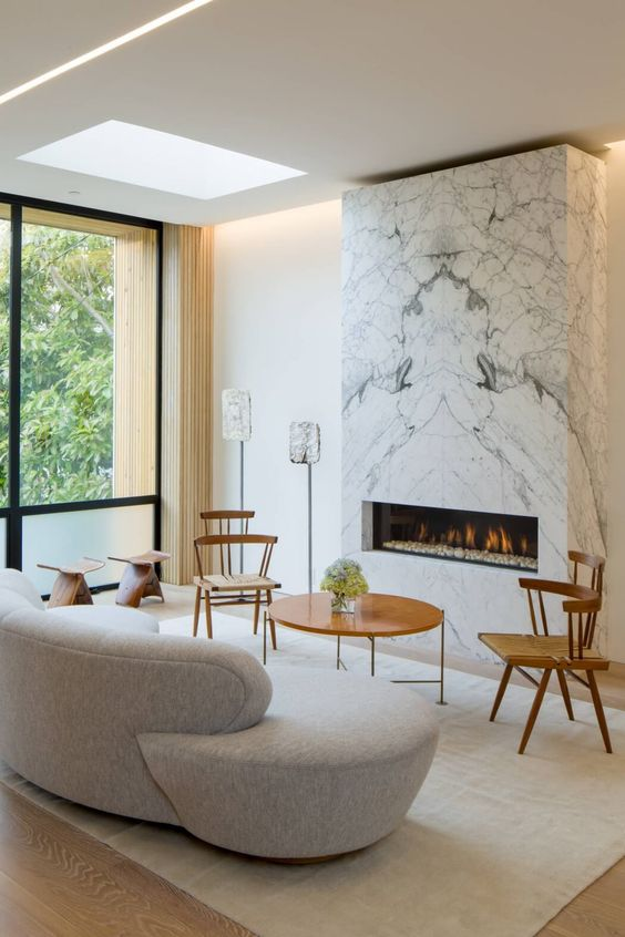 contemporary fireplace style
