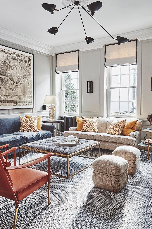 Decorate around grey floor