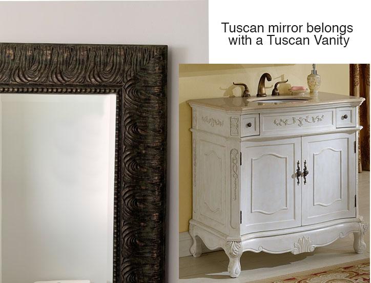 tuscan brown mirror