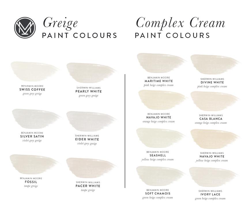 Killam Colour System Greige and Complex Creams